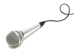 Microphone with curly cable